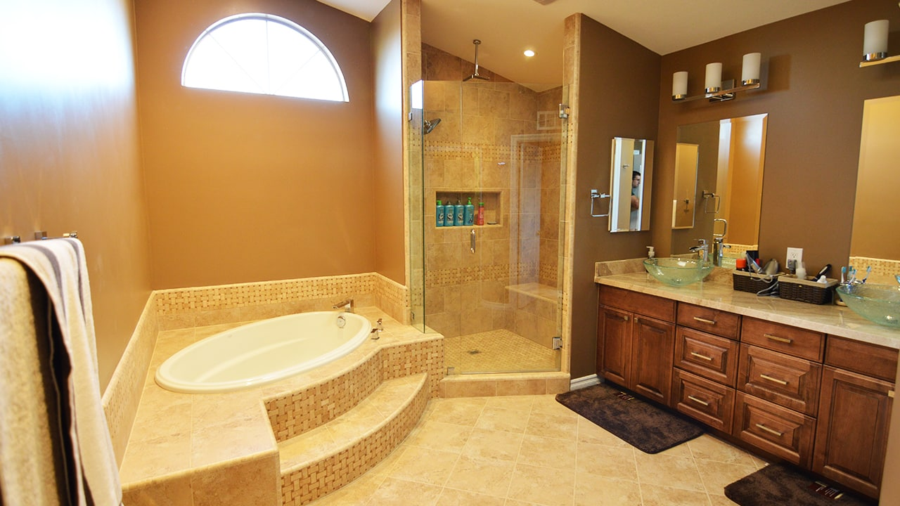 Brea Traditional Master Bathroom Remodel - Your Classic Kitchens