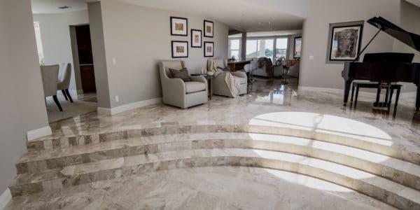 Laguna Beach, CA, Marble Floor Remodel
