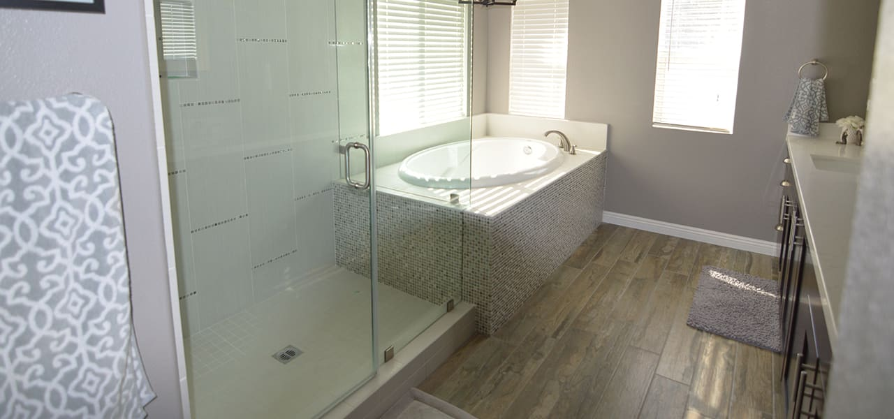 corona contemporary master bathroom 3