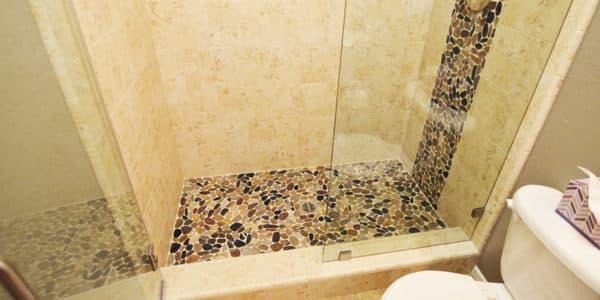 corona eclectic bathroom remodel