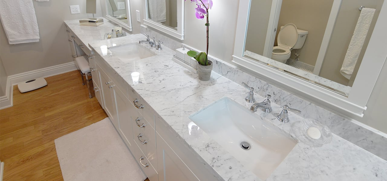 Transitional Bathroom Remodel in Huntington Beach Ca. Your Classic Kitchens Etc   Kitchen Remodel Company Ontario Ca