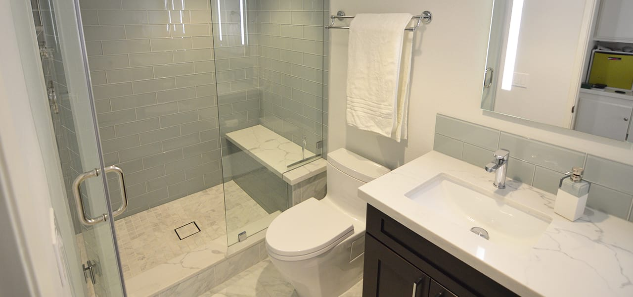 Contemporary Guest Bathroom Remodel In Upland Ca