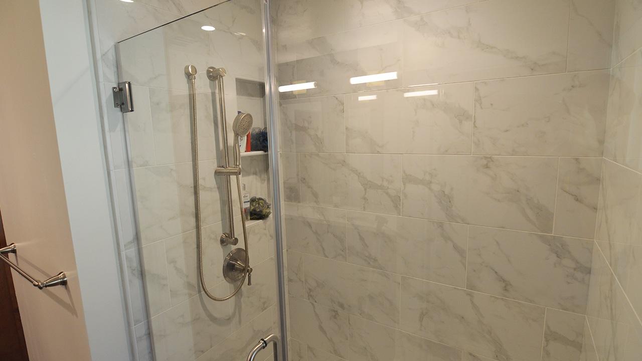 Modern Guest Bathroom Remodel In Glendora Ca